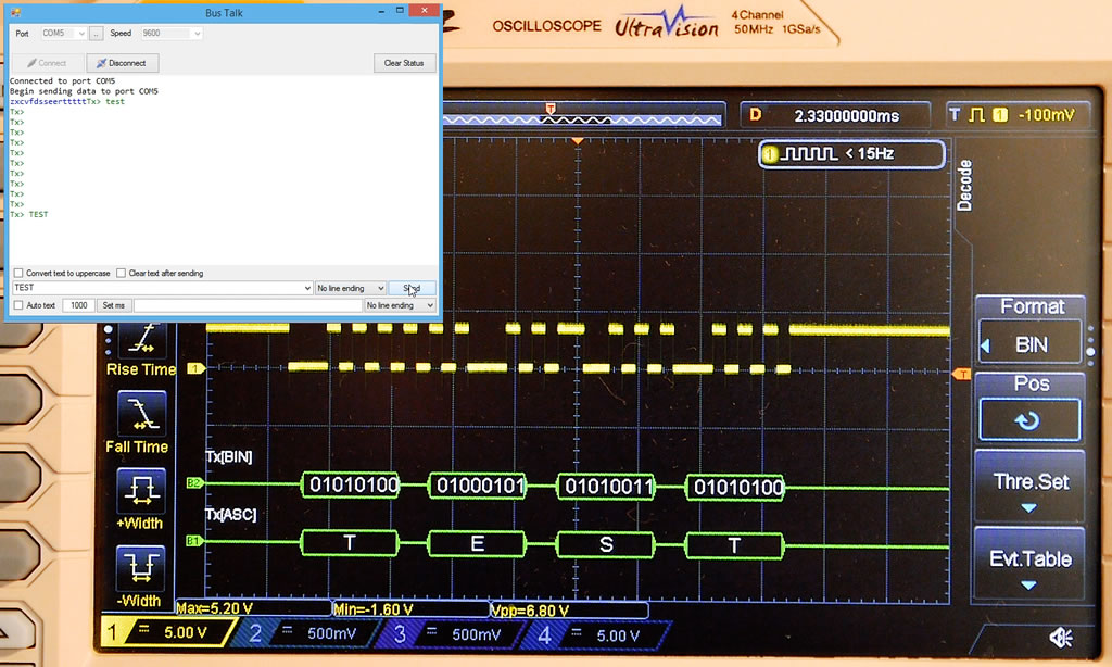 Oscilloscope Data Trigger